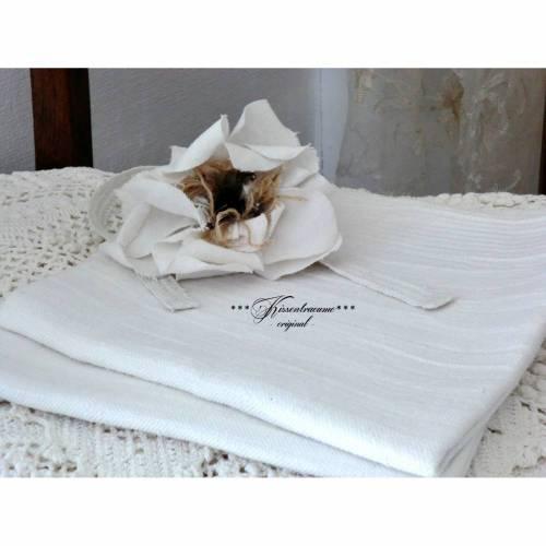 Vintage Leinen, 2 Stück als Set, Shabby Handtuch, Geschirrtuch in neuwertigem Zustand, aus reinem Leinen.