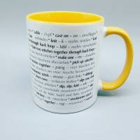 Tasse Strickbegriffe englisch und deutsch (Stricken) - in verschiedenen Farben möglich - Kaffeetasse - Kaffeebecher - Becher Bild 8