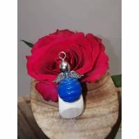 Schutzengel mit Glasperle blau/metall Bild 1