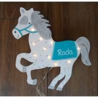 Lampe Pferd Schimmel LED Lampe Kinderlampe Wandlampe Personalisiert Bild 1