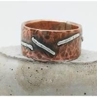 Stripes Bandring aus Kupfer und Sterlingsilber Bild 1