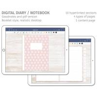 Digitales Tagebuch, Notizbuch, für Goodnotes, 10 Kapitel Bild 1