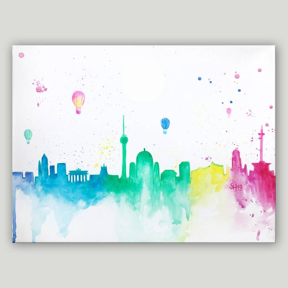 Berlin - Skyline Berlin - handgemalt Bild 1