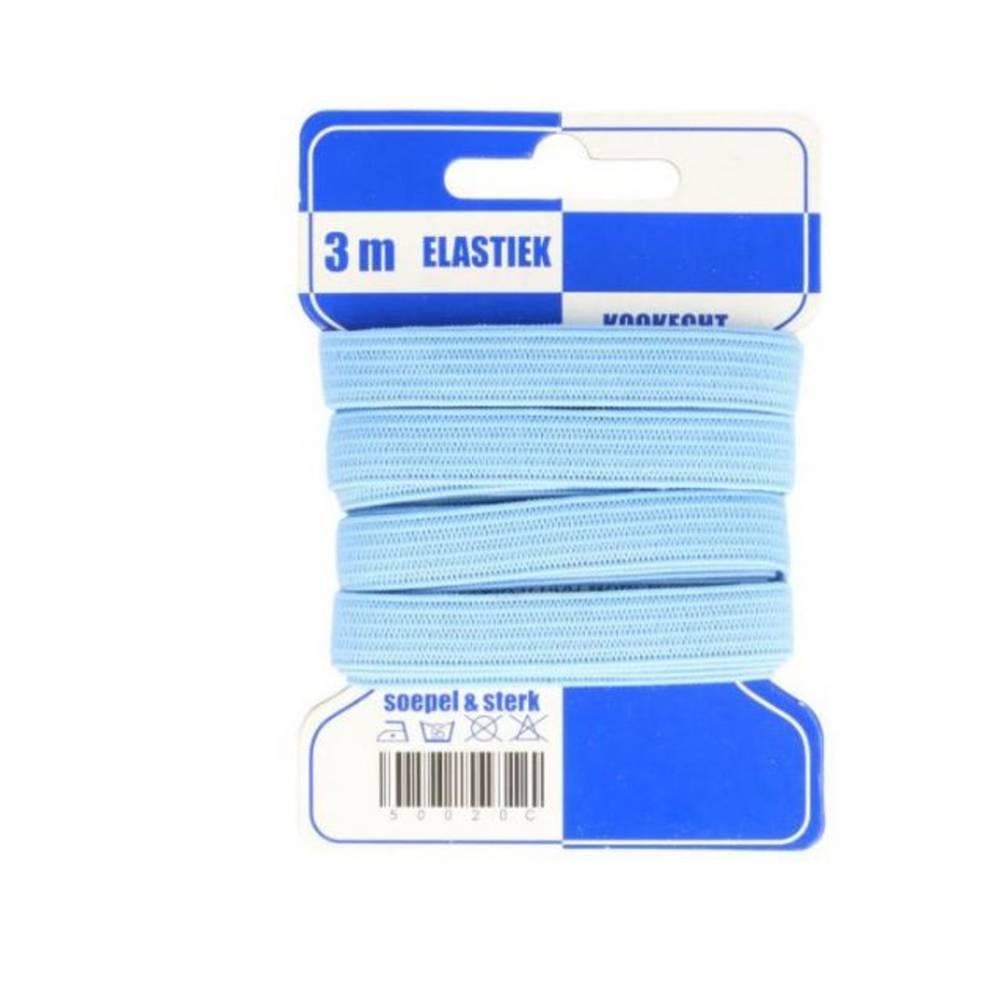 hellblaues Gummiband, 10mm breit, kochfest Bild 1