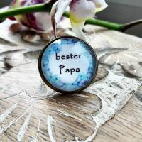 Brosche Pin Anstecknadel Cabochon 20mm bester Papa Bild 1