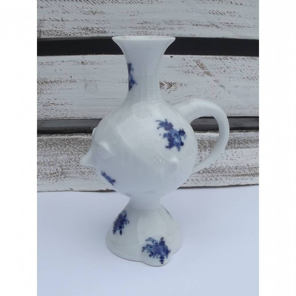 """Rosenthal """"Gesichtvase"""" / Henkelvase mit Gesicht für einzelne Blume. Design Bjoern Wiinblad. H ca. 14,5 cm. VINTAGE  Bild 1"""