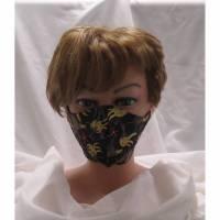 Behelfsmaske / Communitymaske - schwarz / bunt / Crazy Chicken Bild 1