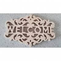 Holzschild Welcome Bild 1
