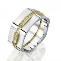 Ring aus 925 Sterlingsilber mit oder ohne Gravur innen und Zirkonia Bild 1