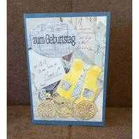 "Geburtstagskarte ""  zum Geburtstag ""  VintageLook Bild 1"