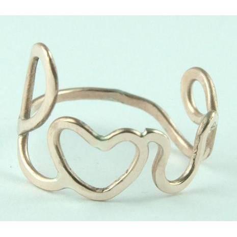 Love Ring aus Bronze. Bild 1