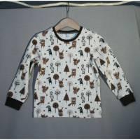 """Langarm T-Shirt aus weichem BIO Jersey im """"Paper Gang"""" Design by Nina Sommer von Stoffonkel Bild 1"""