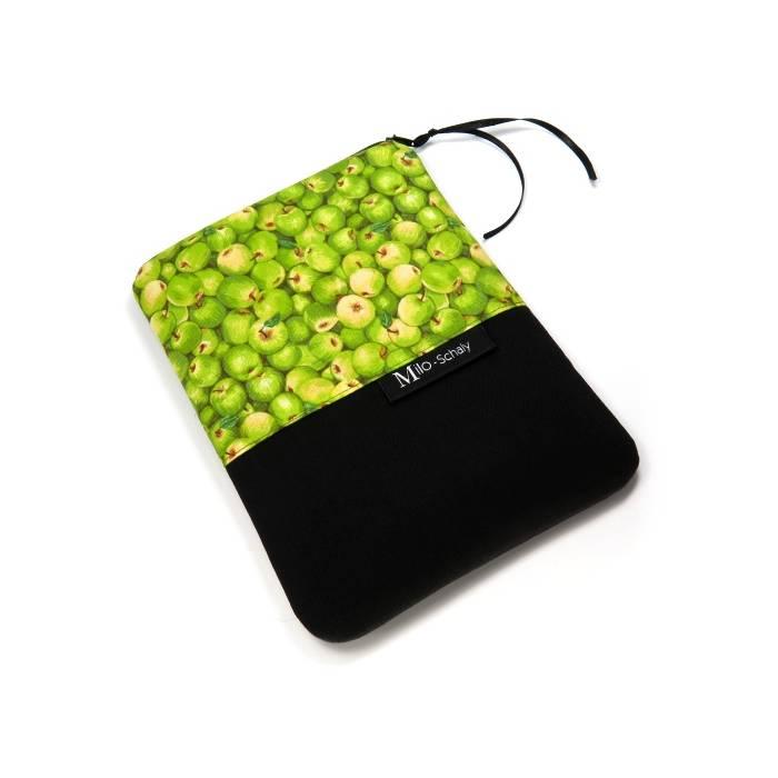 """eReader Hülle 6"""" Tasche Reißverschluss Handarbeit Schutzhülle Äpfel grün  Bild 1"""