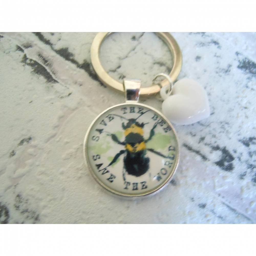Biene , Save the Bee  , Schlüsselanhänger, Glücksbringer,  Bild 1