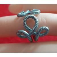 Ring aus Aluminium-Draht Blume Bild 1