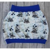 Ballonrock Französische Bulldogge Schleife blau Bild 1