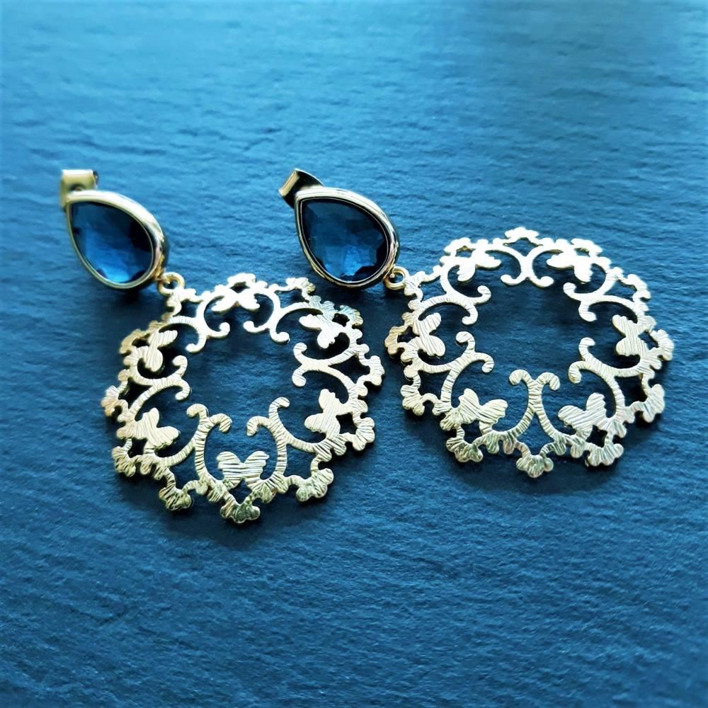 """Ohrringe """"blauer Schmetterling"""" Bild 1"""