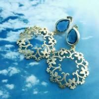 """Ohrringe """"blauer Schmetterling"""" Bild 2"""