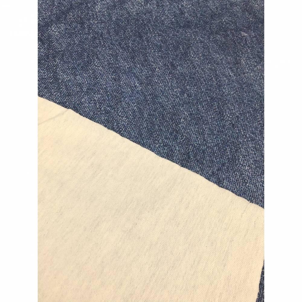 Cooler Digitaldruck Sweat in Jeans-Optik  Bild 1