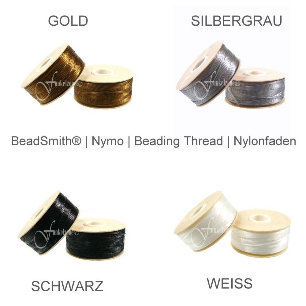 BeadSmith | Nymo | Beading Thread | Nylonfaden | D Ø 0,3 mm | 58 m | 64 Yard | FARBWAHL Bild 1