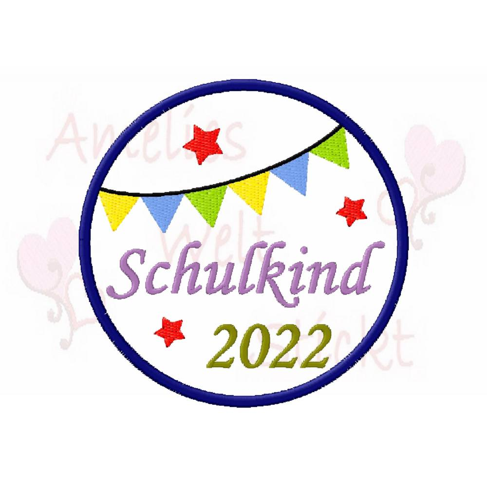 Stickdatei Schulkind 2021 stickmuster embroidery sticken 10x10 (4x4) Stickmotiv machine embroidery pattern einschulung Bild 1