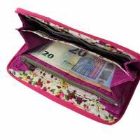 """Damen-Geldbörse  """" Ronja """" - geräumiges Portemonnaie mit Jeans und Pink * Geldbeutel mit Reißverschluss  Bild 10"""