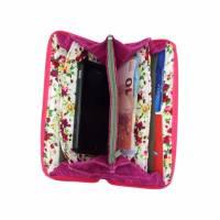 """Damen-Geldbörse  """" Ronja """" - geräumiges Portemonnaie mit Jeans und Pink * Geldbeutel mit Reißverschluss  Bild 7"""