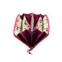 """Damen-Geldbörse  """" Ronja """" - geräumiges Portemonnaie mit Jeans und Pink * Geldbeutel mit Reißverschluss  Bild 8"""