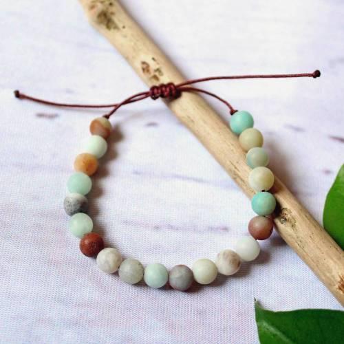 Amazonit • Armband Perlen   Edelsteinschmuck   Armschmuck   Geschenke für Frauen   Freundin   Schwester   Mama