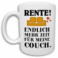 Rentner Tasse, Ruhestand Geschenk, Abschiedsgeschenk Kollege, lustige Rentner Sprüche Kaffeetasse Bild 1