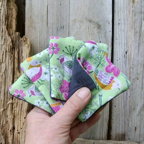 4 STÜCK | Abschminkpads, Kosmetikpads, Zero Waste, waschbar, wiederverwendbar, nachhaltig, ökologisch, 100 % Baumwolle,  make up remover