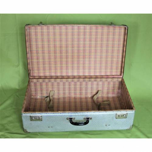 Vintage Koffer aus Metall Retro Koffer