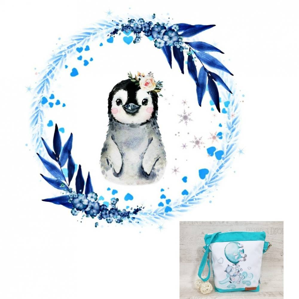Kindertasche, Kindergartentasche 43 Pinguin Aloha Bild 1