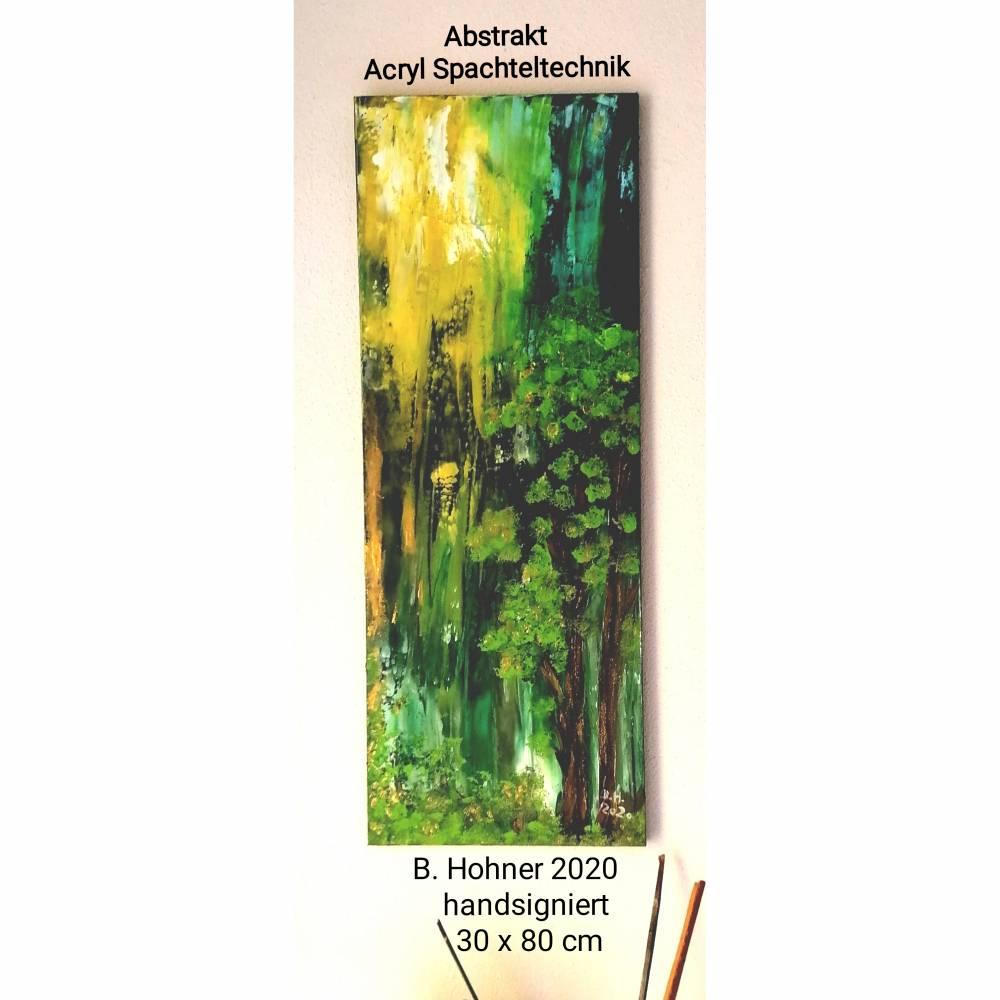 Acryl - Spachteltechnik - abstrakt--30x80 cm Bild 1