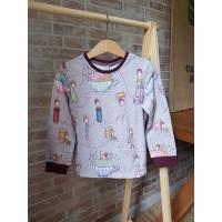 Langarm T-Shirt aus weichem BIO Jersey mit Nähelfen Print designed by Susalabim von Lillestoff Bild 1