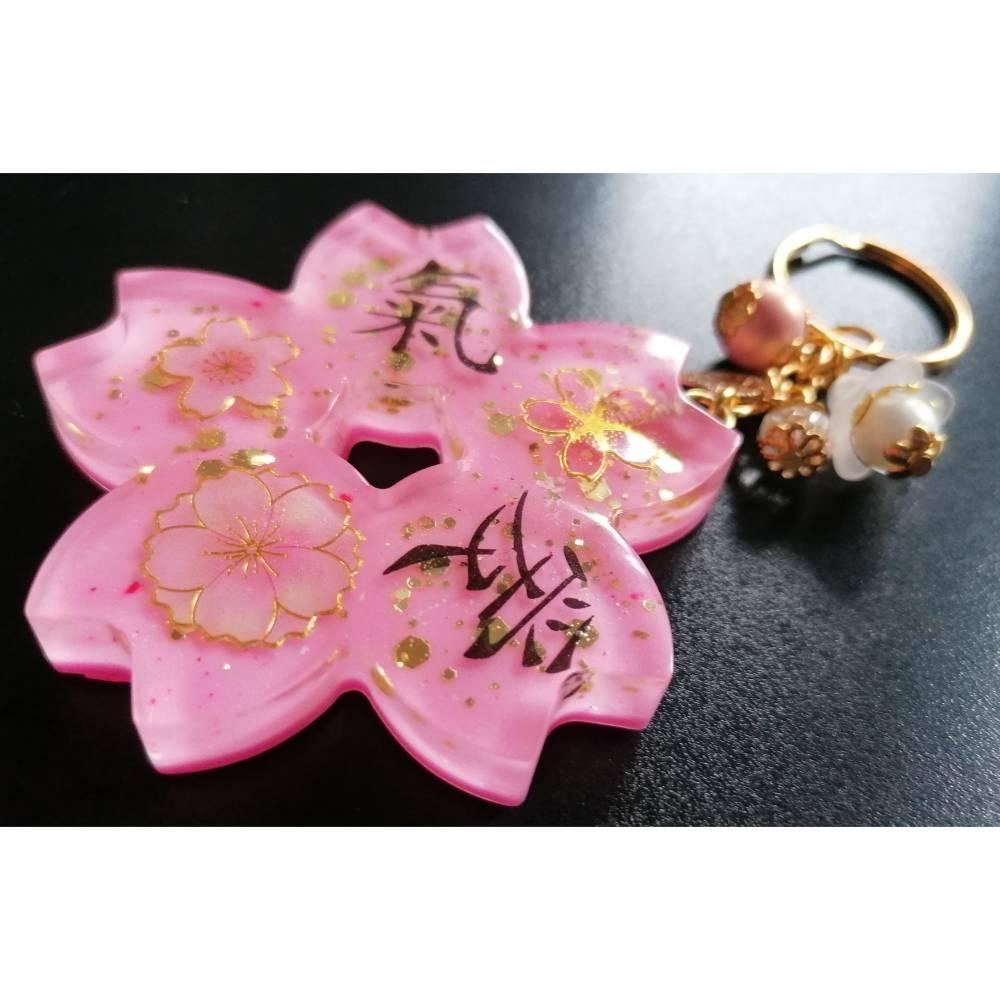 Sakurablüte Schlüsselanhänger / Kirschblüten Schlüsselanhänger Bild 1