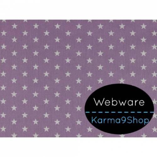 0,1m Webware Sterne flieder