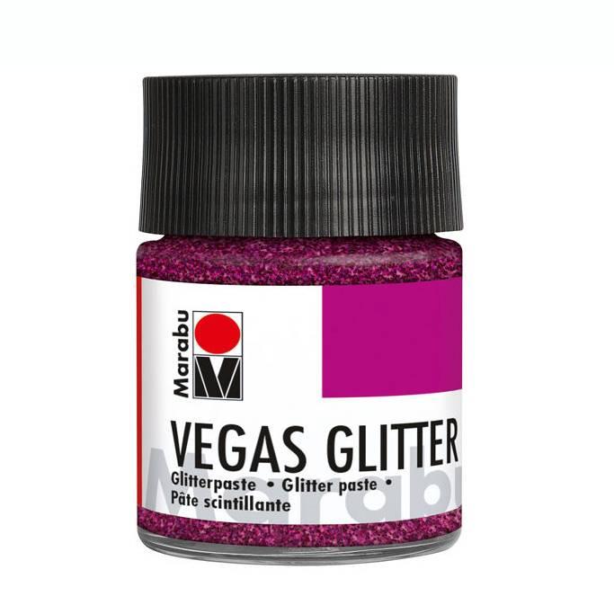 Marabu VEGAS GLITTER Glitterpaste Glitter-Rosa, 50 ml Bild 1