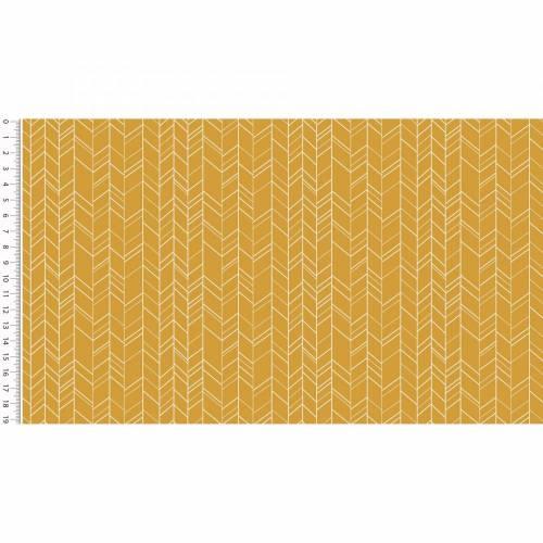 Baumwollstoff zick-zack gelb