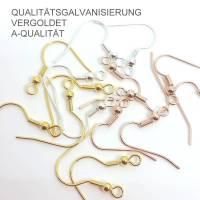 Rohlinge   Ohrhaken   Fischerhaken   Ohrhänger   Galvanisierung   Deine AUSWAHL  Bild 1