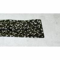 Stirnband schwarz weißes Punktemuster, Jerseyband, Rockabilly, Twist Haarband, Twist Stirnband, Stirnbänder, Stirnband Sport, Haarbänder Sport, Bild 1