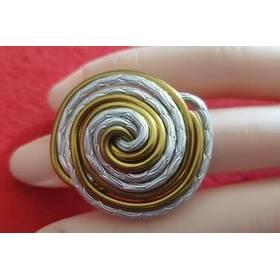 Ring 2 Farbig aus Aluminium-Draht Muschel Bild 1