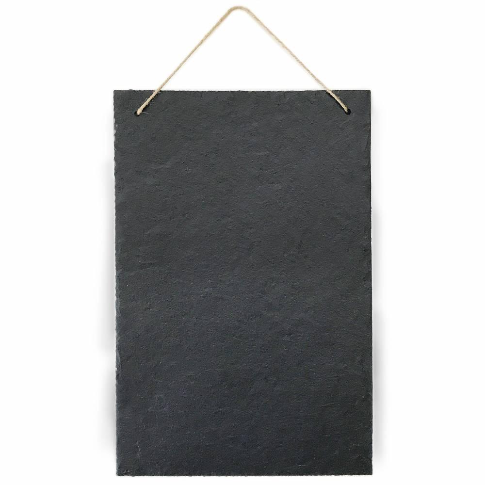 Schiefertafel Kreidetafel zum beschriften und aufhängen Vintage Deko Schieferplatte für Küche, Garten, Tisch 30x20 cm groß hoch Bild 1