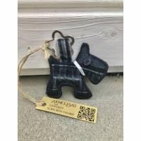 Schlüsselanhänger / Taschenbaumler Hund | Jeans Upcycling / Recycling, AichelBag Bild 1