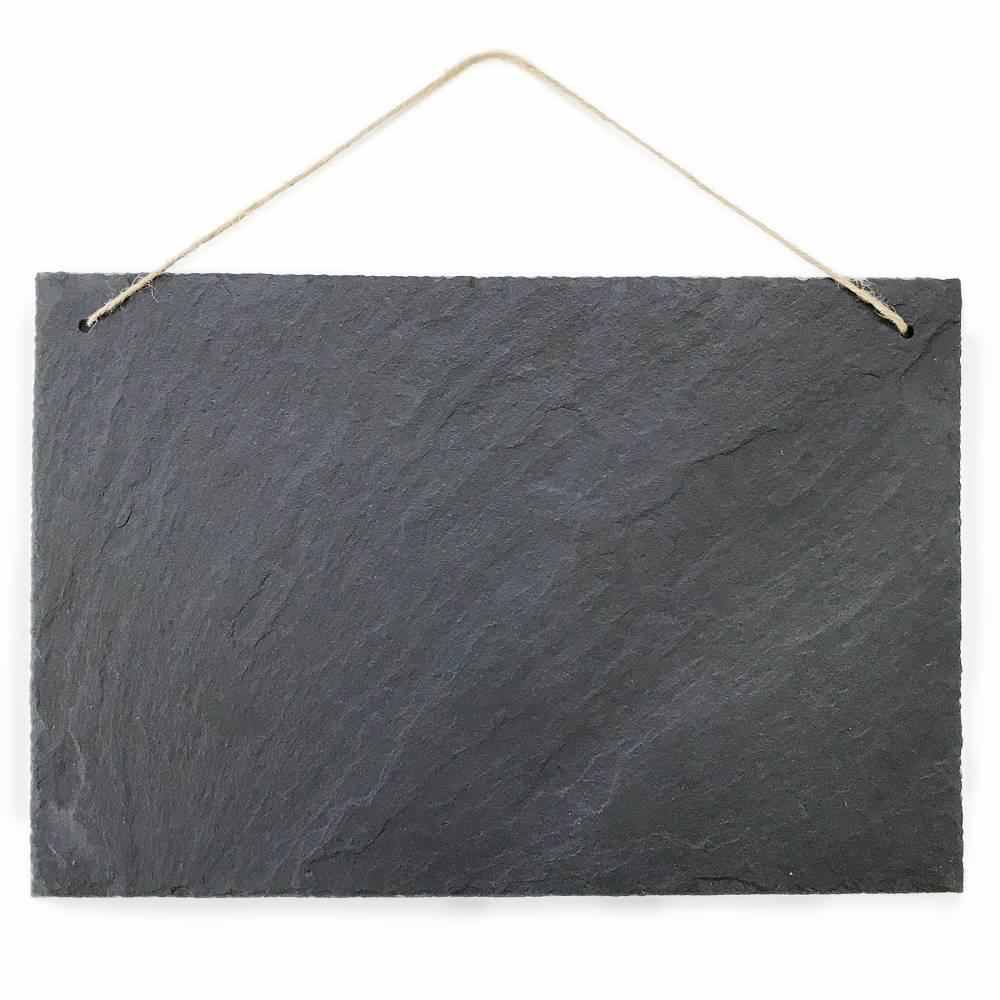 Schiefertafel Kreidetafel zum beschriften und aufhängen Vintage Deko Schieferplatte für Küche, Garten, Tisch 30x20 cm groß quer Bild 1