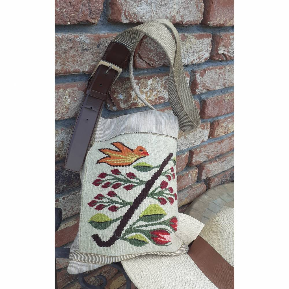 UPCYCLING Vintage GOBELIN Schultertasche, Handtasche, Shopper Bild 1