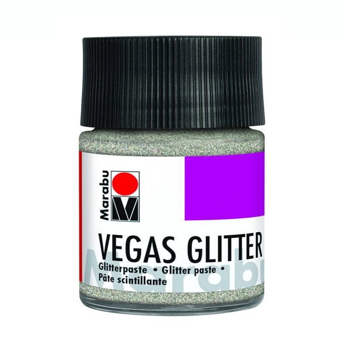 Marabu VEGAS GLITTER Glitterpaste Glitter-Silber, 50 ml Bild 1