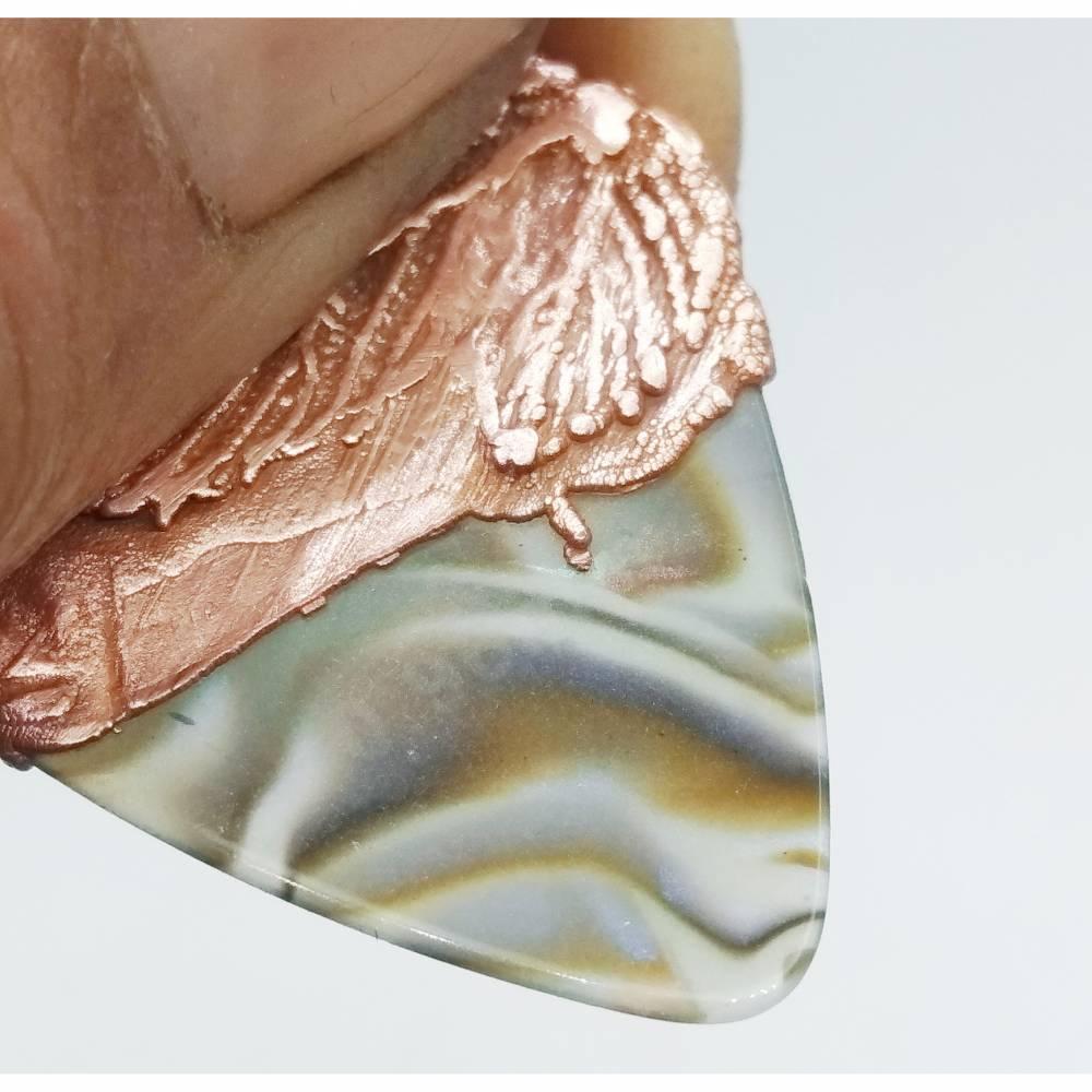 Plectrum mit Kupfer veredelt für SammlerInne  Bild 1