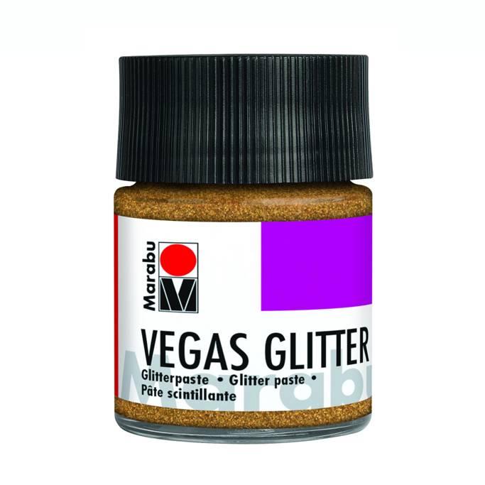 Marabu VEGAS GLITTER Glitterpaste Glitter-Gold, 50 ml Bild 1