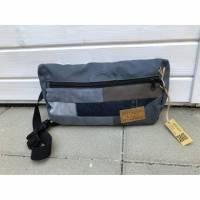 graue Bauchtasche / Gürteltasche / Hüfttasche / Umhängetasche / Cross-Over Tasche | Upcycling / Recycling Tasche, AichelBag Bild 1